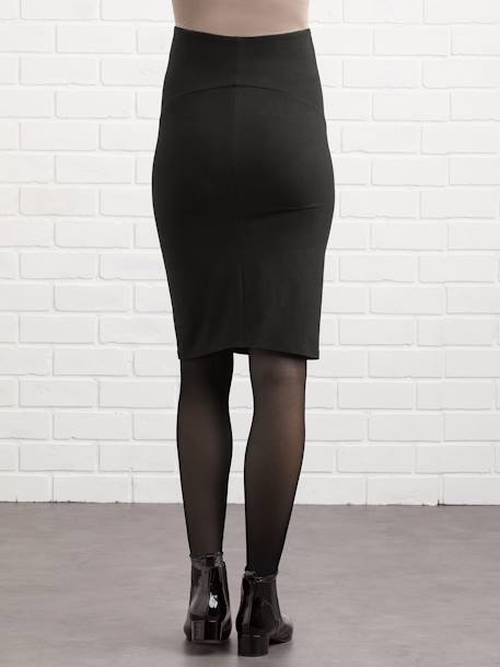 Long Maternity Tube Skirt BLACK DARK SOLID - vertbaudet enfant