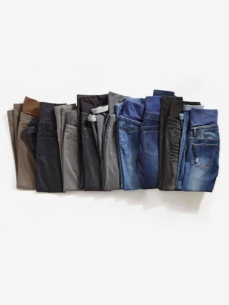 Jean slim stretch de grossesse entrejambe 79 DENIM BLACK+DENIM BRUT+DENIM GRIS CLAIR+DENIM GRIS CLAIR+Denim stone+TRIPLE STONE - vertbaudet enfant