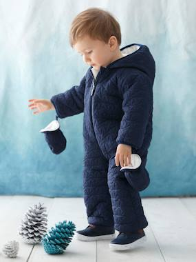 coats-Baby Star-Padded Jumpsuit