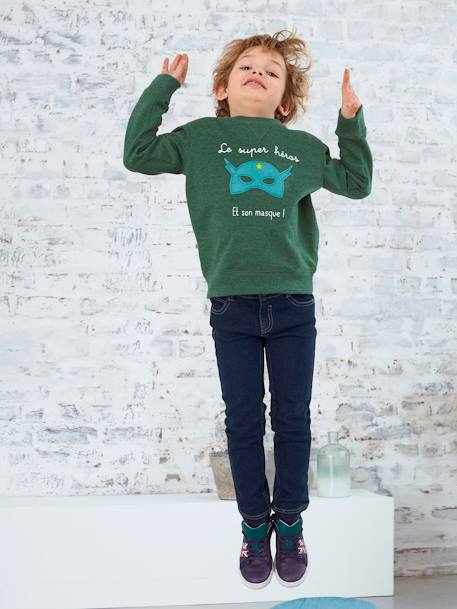 Boys' Slim Fit Stretch Jeans Denim brut - vertbaudet enfant