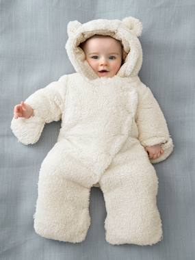 Baby-Outerwear-Snowsuits-Newborn Faux Fur Convertible Snowsuit