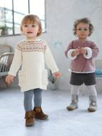 Baby Knitted Dress with Jacquard Motif  - vertbaudet enfant