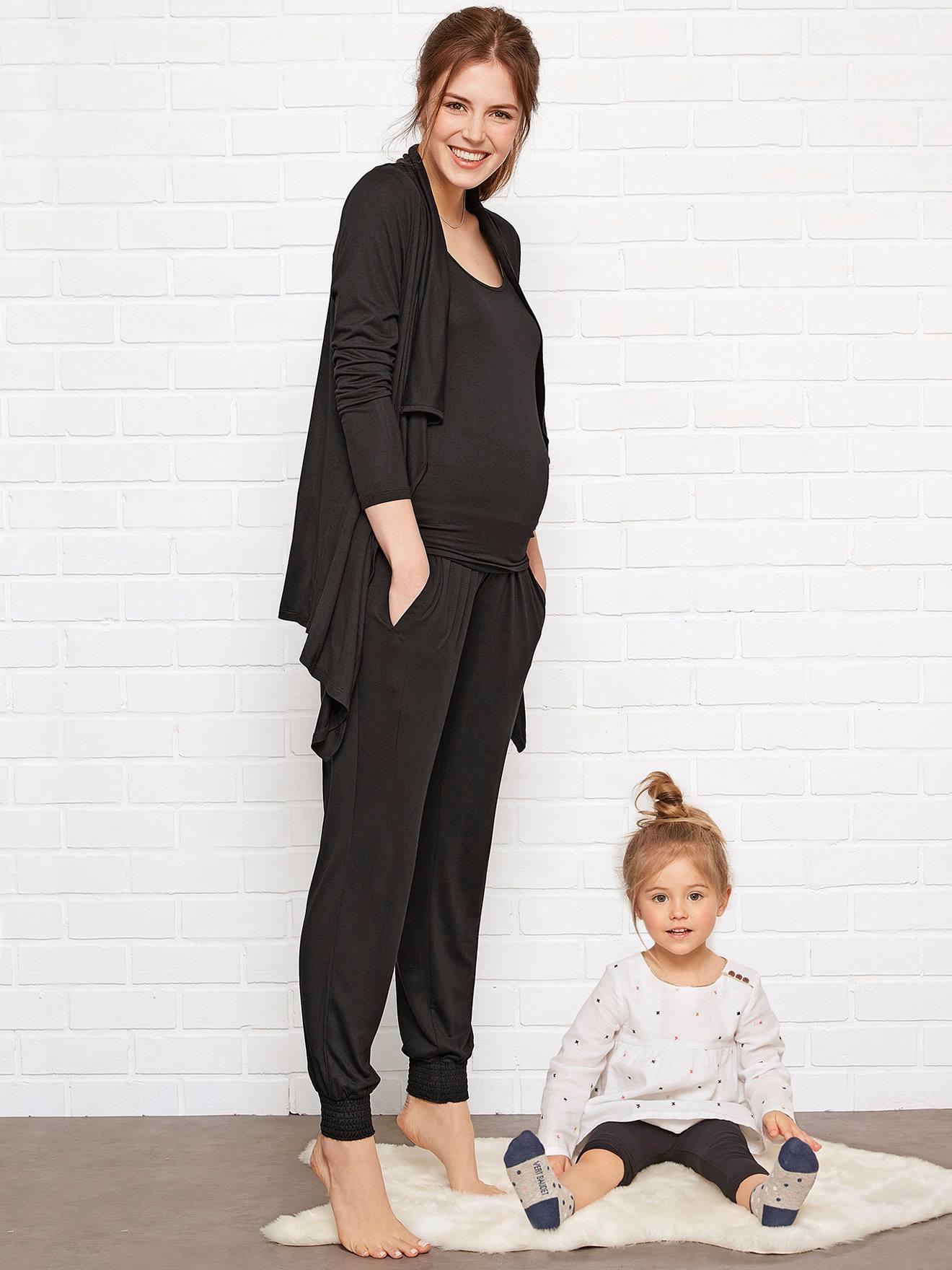 Maternity Nursing Loungewear 3 Piece Kit Black Maternity