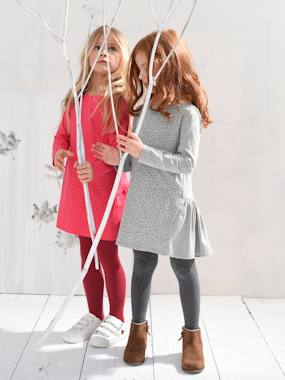 New Collection Fall Winter - Vertbaudet | Quality French Clothes for Babies & Children-Girls' Dress in Jersey Knit