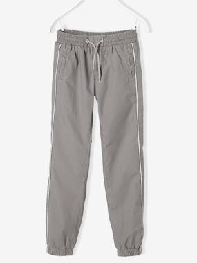 Vertbaudet - Trousers girls boys and babys-Girls Lined Poplin Joggers