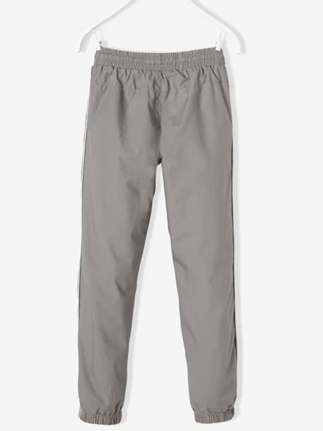 Girls Lined Poplin Joggers GREY LIGHT SOLID - vertbaudet enfant