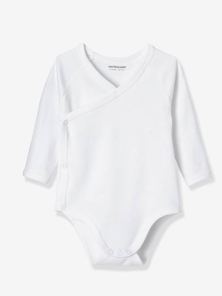 Newborn Baby Pack of 7 White Bodysuits WHITE MEDIUM SOLID - vertbaudet enfant