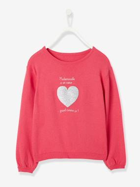Vertbaudet Sale-Girls-Cardigans, Jumpers & Sweatshirts-Girls' Jumper with Iridescent Detail