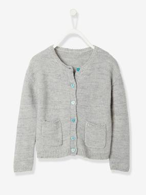 Girls-Cardigans, Jumpers & Sweatshirts-Girls' Stylish Knit Cardigan