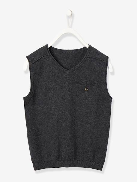 Boys' Waistcoat BLACK DARK SOLID+BLUE DARK SOLID+GREY DARK MIXED COLOR - vertbaudet enfant
