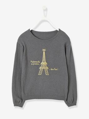 Vertbaudet Collection-Girls-Girls' Jumper with Iridescent Detail