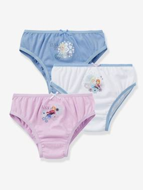 Girls-Underwear-Girls' Pack of 3 Pairs of Frozen® Assorted Briefs