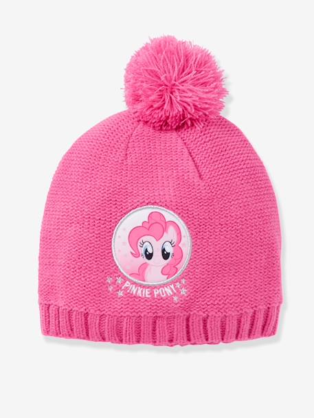 Girls' My Little Pony® Beanie with Pompoms PURPLE MEDIUM SOLID WITH DESIG - vertbaudet enfant