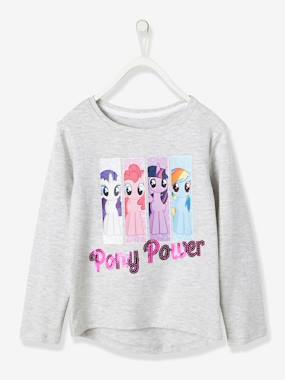 All my heroes-Girls-Girls' My Little Pony® Long-Sleeved T-Shirt, Wording with Sequins