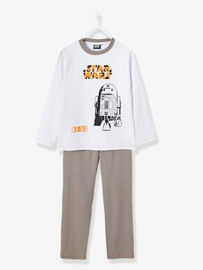 Boy-Nightwear -Boys' Long-Sleeved Pyjamas, R2D2 Star Wars® Theme