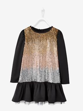 Girls-Dresses-Girls' Sequinned Dress