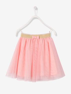 Girls-Skirts-Girls' Glittery Tulle Skirt