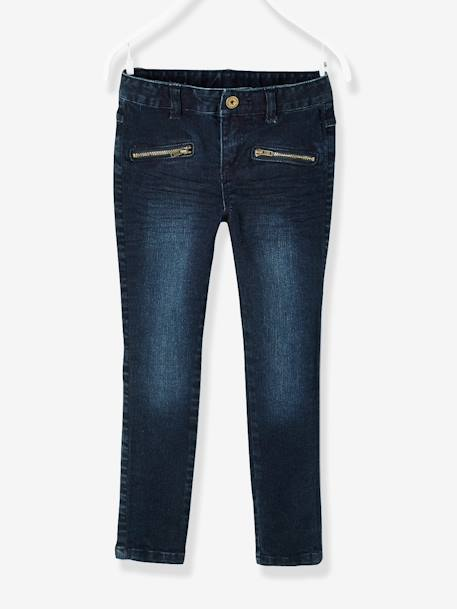 Pantalon skinny fille en denim tour de hanches LARGE Denim brut - vertbaudet enfant