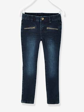 Collection morphologique-Pantalon skinny fille en denim tour de hanches MEDIUM