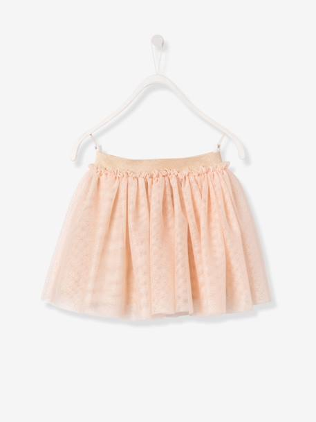 Girls' Iridescent Tulle Skirt BEIGE MEDIUM SOLID - vertbaudet enfant