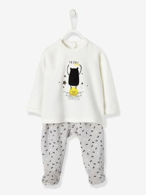 Baby-Pyjamas-Baby Two-Pieces Velour Pyjamas