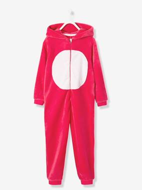 Girls-Nightwear-Girls' Plush Knit Onesie