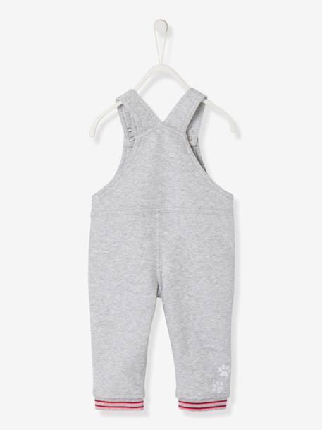 Baby Boys' Lined Fleece Dungarees GREY MEDIUM MIXED COLOR - vertbaudet enfant
