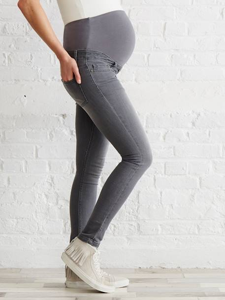 Jean slim stretch de grossesse entrejambe 85 +DENIM BLACK+DENIM BRUT+DENIM GRIS CLAIR+DENIM GRIS CLAIR+DOUBLE STONE - vertbaudet enfant