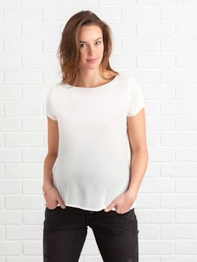 Maternity-Shirt, tunic-Maternity Blouse with Back Opening