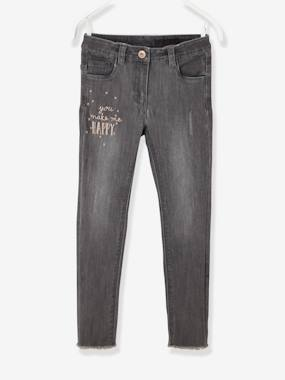 Trousers-Girls-Girls' Embroidered Skinny Jeans