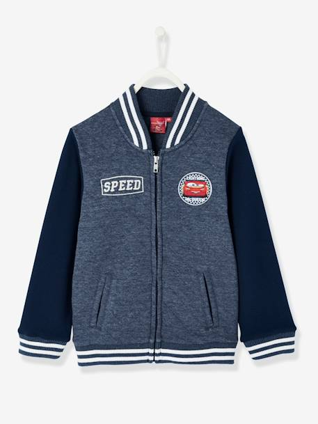 Boys' Teddy-Style Jacket, Cars® Theme BLUE DARK SOLID WITH DESIGN - vertbaudet enfant