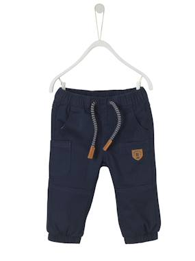 Baby-Trousers & Jeans-Baby Boys' Lined Chevron Trousers