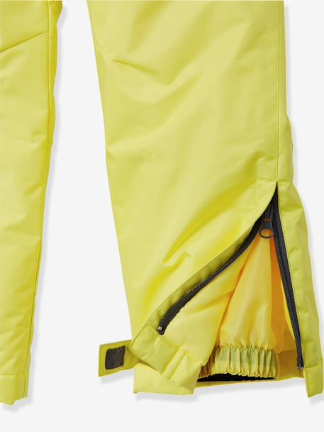 Boys' Ski Trousers GREY DARK SOLID+YELLOW BRIGHT SOLID - vertbaudet enfant