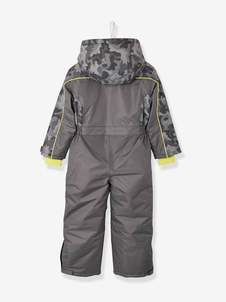 Boys' Ski Jumpsuit GREY DARK ALL OVER PRINTED - vertbaudet enfant