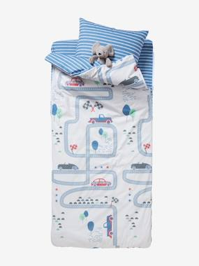 Bedding-Child's Bedding-Ready-for- Bed 3-Piece Set without Duvet, Racing Track Theme