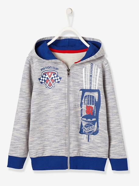 Boys' Hooded Cars® Sweatshirt BLUE MEDIUM MIXED COLOR - vertbaudet enfant