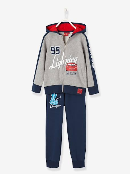 Two-tone CARS® Track Suit GREY MEDIUM MIXED COLOR - vertbaudet enfant