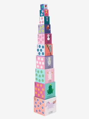 Vertbaudet Collection-Giant 10-Cube Tower, Princess Theme