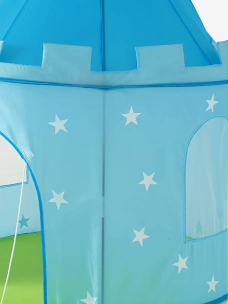 Castle Play Tent for Boys BLUE LIGHT SOLID - vertbaudet enfant