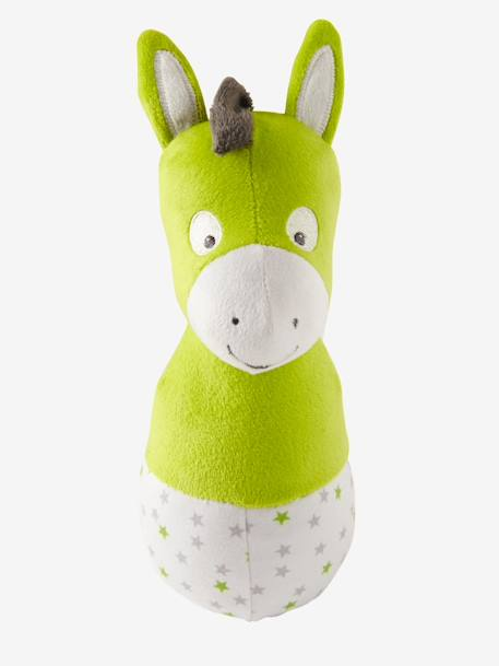 Plush Bowling Game, Cat & Friends GREEN MEDIUM SOLID WITH DESIG - vertbaudet enfant
