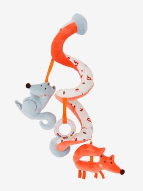 Toys-Cuddly Toys & Rattles-Fox-Wolf Activity Spiral, for Babies
