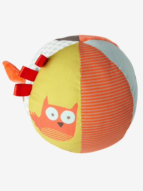 Fox Activity Ball ORANGE DARK SOLID WITH DESIGN - vertbaudet enfant