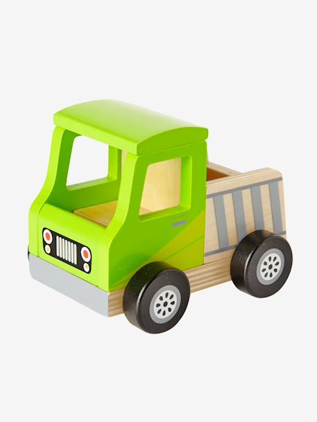 Wooden Dump Truck GREEN MEDIUM SOLID WITH DESIG - vertbaudet enfant