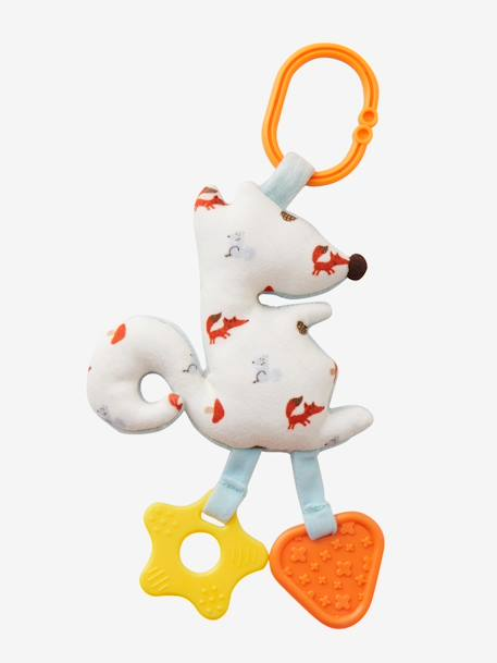 Activity Book & Soft Squirrel with Teethers BROWN LIGHT SOLID WITH DESIGN - vertbaudet enfant