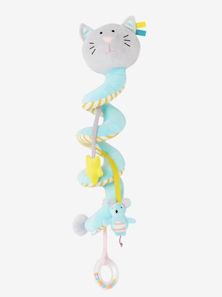 Cat Activity Spiral, for Babies BLUE LIGHT SOLID WITH DESIGN - vertbaudet enfant