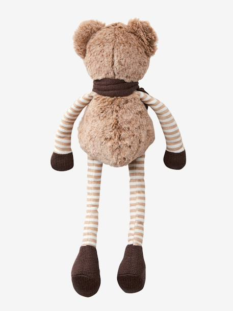 Long-Legged Teddy Bear BROWN MEDIUM SOLID WITH DESIGN - vertbaudet enfant