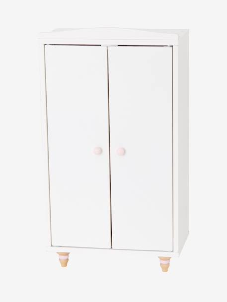 Doll's Wooden Wardrobe WHITE LIGHT SOLID - vertbaudet enfant