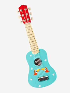 Toys-Wooden Guitar Decorated with Toucans