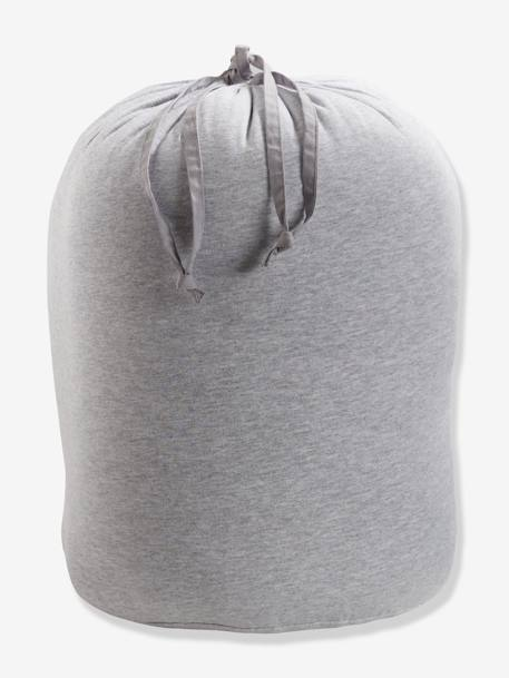 Bear Sleeping Bag GREY LIGHT SOLID WITH DESIGN - vertbaudet enfant