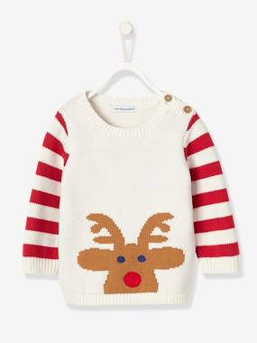 Vertbaudet Collection-Baby-Baby Knitted Christmas Jumper